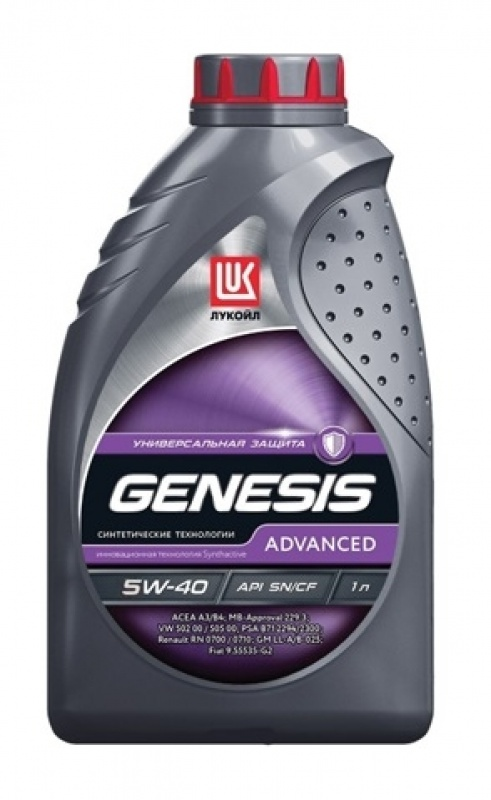 LUKOIL GENESIS ADVANCED 5W40 канистра 1 л 1599870