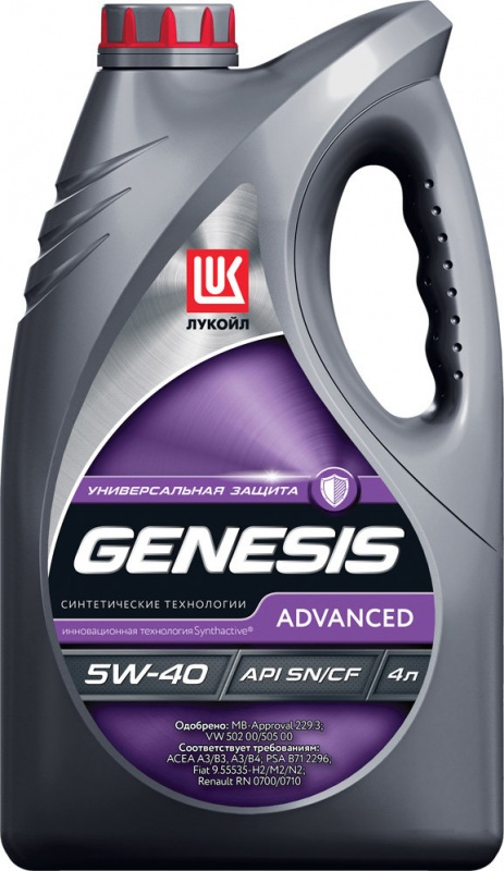 LUKOIL GENESIS ADVANCED 5W40 канистра 4 л 1599871