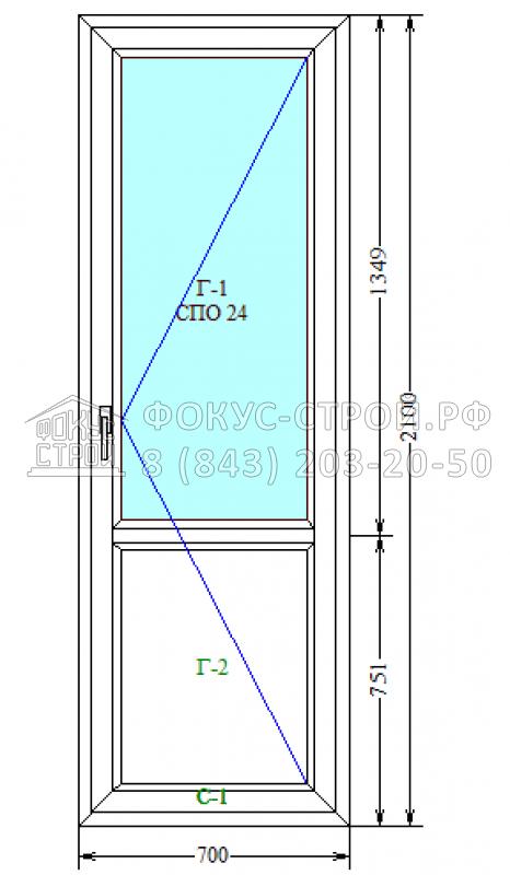 Балконная дверь kbe gutwerk 58 мм / балконные блоки / пласти.