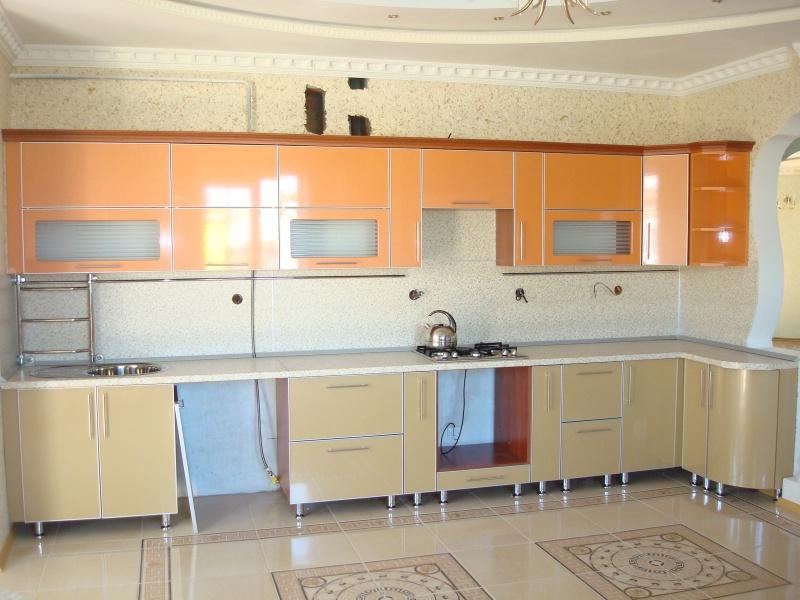 Кухни с алюминиевой рамкой 1