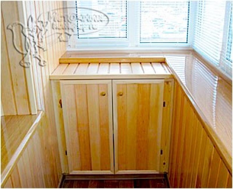 Встроенная мебель для балкона и лоджии..